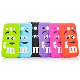 Wholesale New Style D Cute Colorful M M Cartoon Chocolate Cases Soft Silicon Case For Samsung Galaxy Star Advance G350E