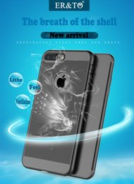 Wholesale Iphone s Plus Case Thin Silicone Back Cover air vent exquisite mold Phone Skin Ultra Thin Back Skin Cover Ventilation Drop Apple Iphone