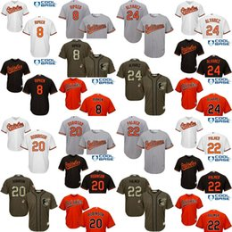 Wholesale 2017 cool base Men s Baltimore Orioles cal ripken FRANK ROBINSON JIM PALMER Pedro Alvarez baseball jerseys Stitched size S XL