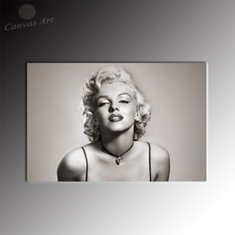 No Framed Modern Black and White Canvas Painting Marilyn Monroe Printed Picture Decor Canvas for Living Room