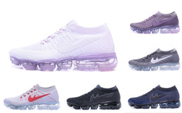 VaporMaxes 2018 Running Shoes Weaving racer Ourdoor Athletic Sporting Walking Sneakers for Women Men Fashion pink Casual maxes Size 36-45