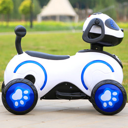 New style baby electric motorcycle with Light music Toy car A storage battery car With rechargeable lights Four wheeled car space dog