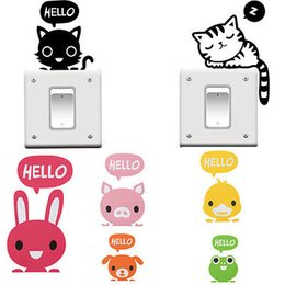 Wholesale Cartoon Cute Removable Home Decoration Art Light Switch Sticker Wall Sticker Socket Switch Sticker Cover Decal Mural For Kid Room
