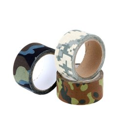 Canada Vente en gros-10M EDC survie de chasse camouflage Tapes Stretchable Army Jungle Guerre Jeu Shooter Gun Rifle Wrap Tactical Camera Bike Stickers cheap army shooting games Offre