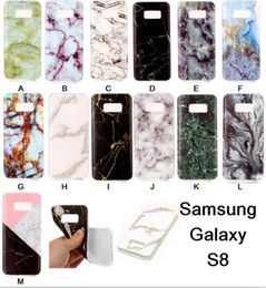 Wholesale Bling Marble Granite Rock Stone Soft TPU Case For Samsung Galaxy S8 PLUS Edge J5 J7 Prime A3 A5 LG V20 X Power Phone Skin Cover