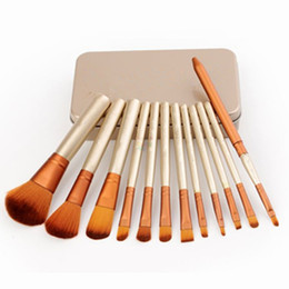 Wholesale NAKED per set Power Brush Makeup Brushes Professional Make Up Brush kit Maquiagem Beauty eye FaceTool Metal Box