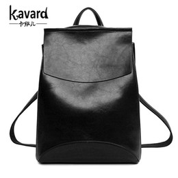 Wholesale Kavard Spanish Brand Design Pu Women Leather Backpacks School Bag Student Backpack Ladies Women Bags Leather Package Female