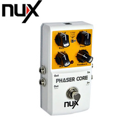 Efectos de modulación en venta-NUX Phaser Core Modificador de desplazamiento de fase Efecto Stomp Pedal Bloqueo de tono Función predefinida True Bypass Pedal de efectos de guitarra