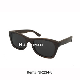 cool men's black bamboo sunglasses