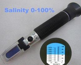 30pcs par dhl fedex concentration 0-100% tenu à la main avec ATC pour chlorure de sodium Salinité réfractomètre à saumure outil de test test concentration for sale à partir de concentration d'essai fournisseurs