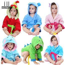 Kids Hooded Towels 6 Designs Animals Toddler Bathrobe Spring Soft Cartoon Baby Towels Infant kids bathrobes