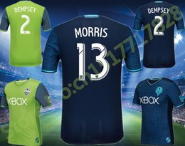 Wholesale 134 Top quality Seattle Sounders jersey home green away blue men shirt Seattle Sounders soccer jersey