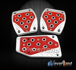 Wholesale Manual Car Pedals Cover Foot Rest Nonslip Pad Safe Accelerator Brake Clutch Red PVC C10