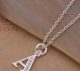 classic 925 silver lette A pendant women's chain necklace (sp3658)