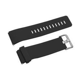 Acheter en ligne Regarder bracelet en caoutchouc noir-Vente en gros-Cymii 18mm 20mm 22mm 24mm Montre Soft Sport Noir Bracelet en caoutchouc silicone Bracelet imperméable à l'eau 2 barres de ressort Braguilles pour la montre