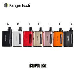 100% Original Kangertech CUPTI 75W TC Starter Kit Kanger VW 75W 18650 Battery Mod 5.0ml Top filling Airflow Contorl Tanks