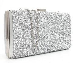 Wholesale clutch bags new designer gold silver sequined evening clutch Banquet Bag Purse Bridal