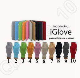 Promotion écran tactile pour samsung 10 couleurs iGlove écran tactile gants de sport pour l'hiver chaud pour iphone pour Samsung capacitif téléphone intelligent avec boîte de détail CCA5320 250pair