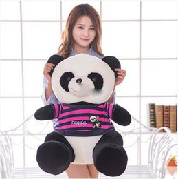 2017 coussins en peluche farcis 60cm Big Plush Animal Panda Peluche Toy Giant 24 '' Soft Cartoon Panda Coussin d'oreiller farci Présent pour bébé coussins en peluche farcis à vendre