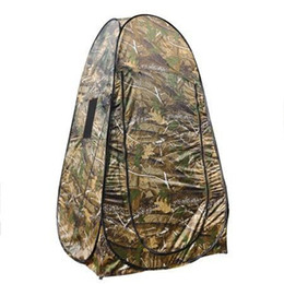 High quality Portable Privacy Shower Toilet Dressing Automatic waterproof single person Camping Pop Up Tent Camouflage