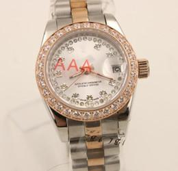 Promotion regarder rose d'or Le vendeur paie / Livraison gratuite Montres de luxe de marque de femmes blanches