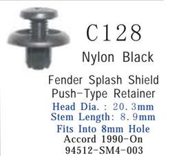 Automotive Attache auto clip en plastique pour la voiture Nylon noir Fender Splash Bouclier Pousser Type Récipient Accord 94512 SM4 003 à partir de protéger plastique noir fabricateur