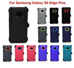 For Samsung Galaxy S6 Edge+ Plus Case w Screen Belt Clip Fits Defender With OPP Retail Package DHL Free Shpping