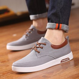 Men Shoes New 2017 Spring Canvas Men Casual Shoes Breathable Round Lace-Up Flats British Style Mens Flat Loafers Shoes