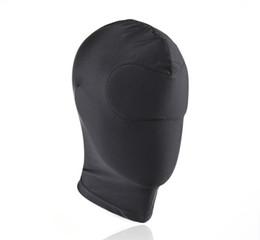 Strong Elastic Spandex Mask hood without eyes and mouth holes, sex game elastic hood,adult sex products for couples sex