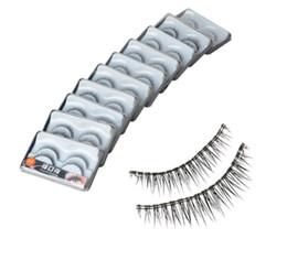 20 Pairs Synthetic Fiber Natural False Eyelashes Black F7 (without glue)