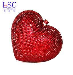 Grossiste-LaiSC sacs de luxe en cristal d'embrayage rouge coeur sac d'embrayage sac de luxe en cristal de luxe sacs femme sacs de mariage sacoche pochette SC010 cheap women formal clutch à partir de women formal clutch fournisseurs