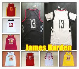 Wholesale NEA SEASON Complete brand logo Stitched Men James Harden Jersey Arizona State College Throwback Sport jerseys Tops Cheap Retro