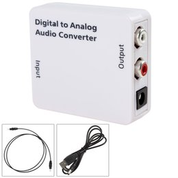 Wholesale Mini Digital Optical Coaxial Toslink Signal to Analog Audio Converter for either home or professional audio switching HMP_456