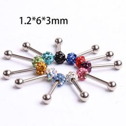 Single crystal helix ear ring 50pcs lot ES04 mix 10 colors body pircing jewelry ferido shamballa ring