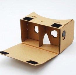 2017 iphone vidrio de alta calidad DIY Google Cardboard Teléfono móvil Realidad virtual gafas 3D Gafas VR para Iphone 6s 7 plus samsung xiaomi Alta calidad barato iphone vidrio de alta calidad