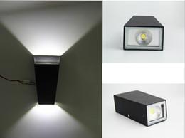 2017 énergie ups Nouveau 5pcs / lot 2 * 3w lampe de mur de LED COB double-dirigé petite lampe de mur vers le haut et vers le bas lumières d'allée lumières d'allée d'économie d'énergie de LED / lumières de couloir énergie ups promotion