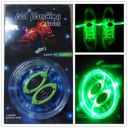 Discothèque clignotant conduit à vendre-52pcs (26pairs) LED lacets lacets Flash Light Up Glow Stick sangle lacets disco Party Skating Sports Glow Stick ex