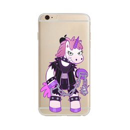 Cell Phone Cases For iPhone 7 Plus 6 6S 5 5s Rainbow unicorn Ultra Thin Crystal Transparent Soft TPU Silicone Cover