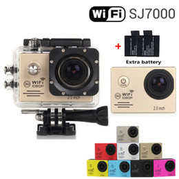Wholesale Add Batteries SJ7000 inch LCD MP Action WIFI Camera Best selling Style P HD DV Cam M Waterproof Sport mini Camara