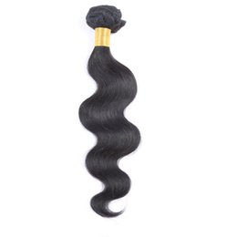 Wholesale Brazilian unprocessed human hair body wave wefts natural color 10-26inch Peruvian Malaysian Indian dyeable Hair Extensions 8A