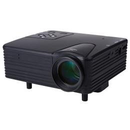 Acheter en ligne Pc hd-Vente en gros-2016 Full HD Home Cinéma Cinema H80 LCD Image Système 80 Lumens Mini LED Projecteur avec AV / VGA / SD / USB / HDMI pour DVD PC