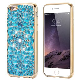 Wholesale Phone Case Soft TPU Fashion Bling Crystal Diamond Shell Lovely Flowers Protection Coque For IPhone S Case Hot Sale Product