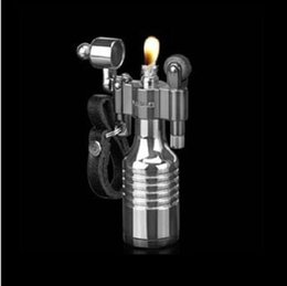 Wholesale Vintage Steel Coat WW2 Trench Lighter Vintage Collectibles Oil Lighter Silver