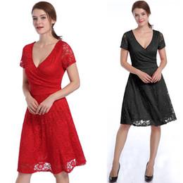 2017, the New Summer Eurasian fashion women's clothing, deep V sexy lace, hollow waist, big pendulum dress