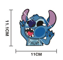 Wholesale 2017 hot car stickers Vinyl wrap Cartoon character stitch sticker automobile motorcycle stick luggage laptop stickers