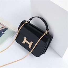 Acheter en ligne Chain bag women s handbag-Sac en gros de femmes en PVC Silicone gelée Pack Mini chaîne petit sac carré sac à main mode sac à bandoulière sac à main