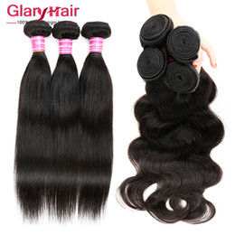 Acheter en ligne Cheveux ondulés tisse pour les femmes noires-Forme du corps de la Malaisie ou Hétéro Straight Weave Bundles Indian Brazilian Peruvian Hairs Cheap Hair for Black Women 8a Hair Weft Bundle Wavy