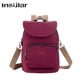 Fashion Insular Waterproof Nylon Women Backpack Teen Girl School Bag Nylon Daypack Women Messenger Bag