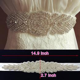 Promotion mariage strass robe de cristal Fashion Crystal Wedding Sashes Accessoires faits à la main pour les robes de mariage Rhinestones Ceintures de soirée pour les accessoires de mariée Formal Cheap 2017