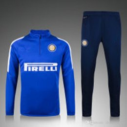 Wholesale 15 Top quality Inter Milan soccer tracksuit chandal Inter Milan football Tracksuit training suit skinny pants Sportsw